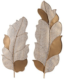 Uttermost Autumn Lace Leaf Wall Art Set of 2