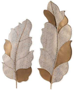 Uttermost Autumn Lace Leaf Wall Art Set of 2 6937954