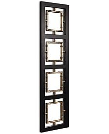 Tadon Black Rectangle Mirror