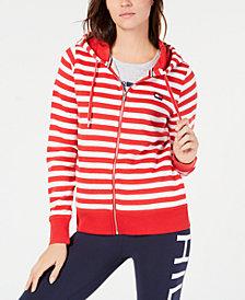Tommy Hilfiger Sport Striped Zip-Front Hoodie