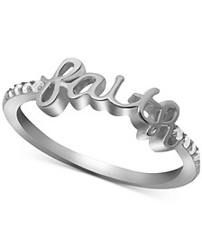 Diamond Faith Ring (1/10 ct. t.w.) in Sterling Silver