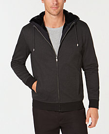 Alfani Men's Full-Zip Hoodie with Faux-Fur Lining, Created for Macy's