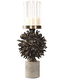Autograph Tree Antiqued Bronze Candleholder