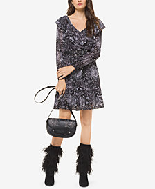 MICHAEL Michael Kors Ruffled V-Neck Dress