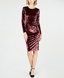 MICHAEL Michael Kors Crushed Velvet Dress, Regular & Petite Sizes