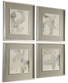 Uttermost Divination Abstract Art Set of 4