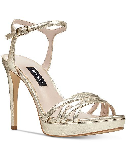 b34028e768 Nine West Quicklime Platform Dress Sandals & Reviews - Sandals ...