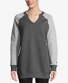 Champion Split-Neckline Colorblocked Fleece Tunic