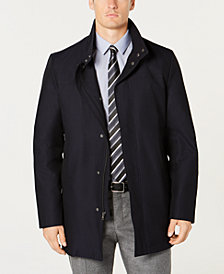 Kenneth Cole New York Men's Cob Modern-Fit Navy Raincoat
