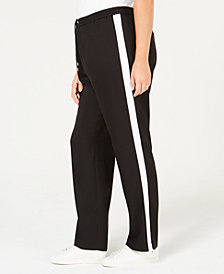MICHAEL Michael Kors Plus Size Striped MKGO Track Pants