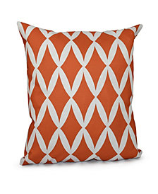 16 Inch Coral Decorative Diamond Print Throw Pillow