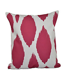 16 Inch Fuchsia Decorative Abstract Throw Pillow