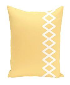 16 Inch Yellow Decorative Geometric Throw Pillow