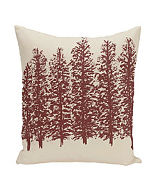 16 Inch Off White and Brown Decorative Floral Throw Pillow