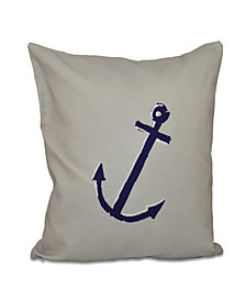 16 Inch Off White Decorative Nautical Throw Pillow