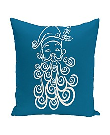 16 Inch Turquoise Decorative Christmas Throw Pillow