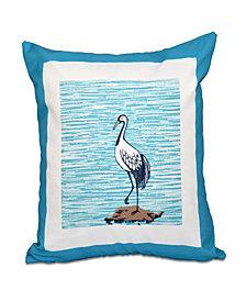 Sandbar 16 Inch Turquoise Decorative Coastal Throw Pillow