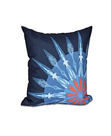 Sailor's Delight 16 Inch Navy Blue Decorative Nautical Throw Pillow