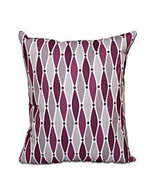 Wavy 16 Inch Purple and Light Purple Decorative Coastal Throw Pillow