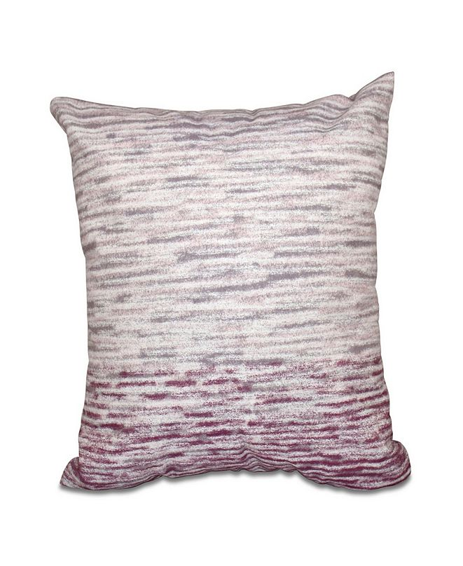 E by Design Ocean View 16 Inch Light Purple and Purple Decorative Geometric Throw Pillow