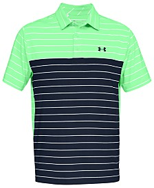 5747a952039 Under Armour Men s Playoff Performance Striped Golf Polo - Polos ...