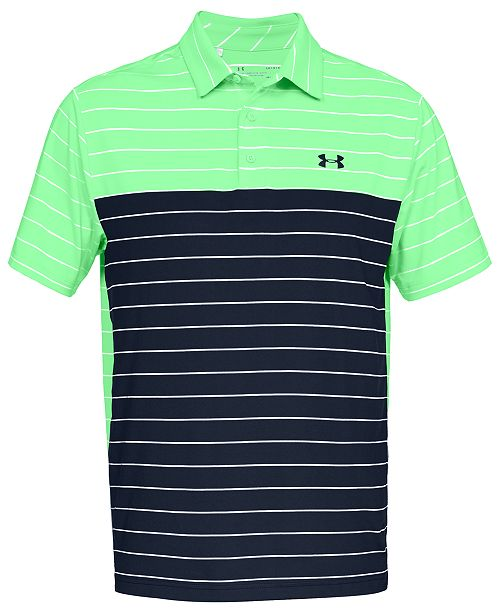 6b1388db ... Under Armour Men's Playoff Performance Color Blocked Golf Polo ...