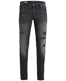 Jack & Jones Men's Slim-Fit Stretch Ripped Jeans