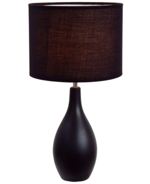 Simple Designs Oval Bowling Pin Base Ceramic Table Lamp
