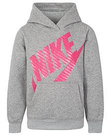 Nike Little Girls Futura Fleece Logo-Print Hoodie