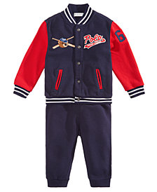 Ralph Lauren Baby Boys 2-Pc. Baseball Jacket & Joggers Set