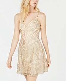 Speechless Juniors' Shimmer Embroidered Dress