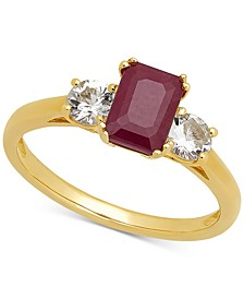 Ruby (1-1/6 ct. t.w.) & White Sapphire (5/8 ct. t.w.) Ring in 14k Gold