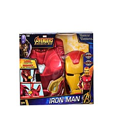 Deluxe Iron Man Flip N Reveal Little and Big Boys Dress Up Set