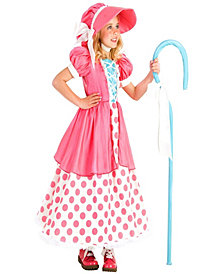 Polka Dot Bo Peep Little Girls Halloween Costume