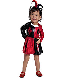 Harley Quinn Toddler Girls Dress & Diaper Cover Set