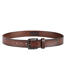 Levi's® Men's Burnished Casual Leather Belt