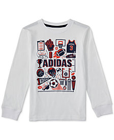 adidas Little Boys Collage-Print Cotton T-Shirt