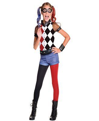 DC Superhero Girls: Harley Quinn Deluxe Girls Costume