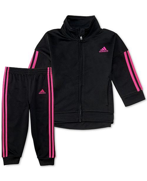 adidas Toddler Girls 2-Pc. Tricot Jacket & Pants Set