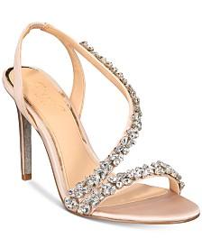 Jewel Badgley Mischka Java Embellished Evening Sandals