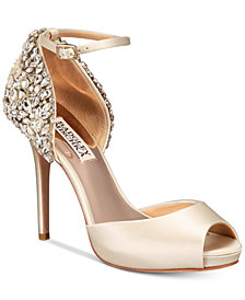 Badgley Mischka Vanity Embellished Evening Sandals