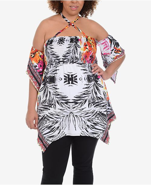NY Collection Plus Size Strappy Babydoll Tunic