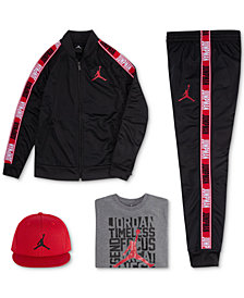 Jordan Big Boys Jumpman Mesh Cap, Zip-Up Jacket, Graphic-Print T-Shirt & Pants