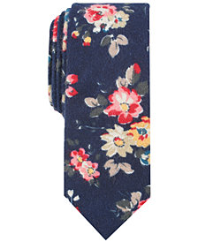 Bar III Men's Clara Floral Skinny Tie, Created for Macy's