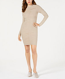 GUESS Safira Long-Sleeve Ruched Dress