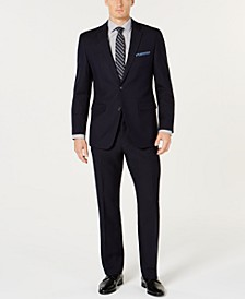 Men's Slim-Fit Comfort Stretch Navy Solid Suit