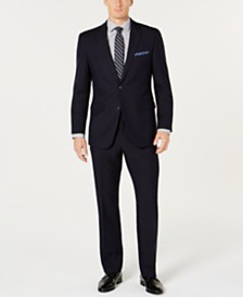 Perry Ellis Men's Slim-Fit Comfort Stretch Navy Solid Suit
