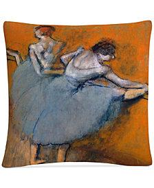 """Degas Dancers At The Bar 16"""" x 16"""" Decorative Throw Pillow"""