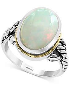 EFFY® Opal Ring (3-9/10 ct. t.w.) in Sterling Silver & 18k Gold