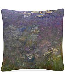 """Monet Water Lillies 2 16"""" x 16"""" Decorative Throw Pillow"""
